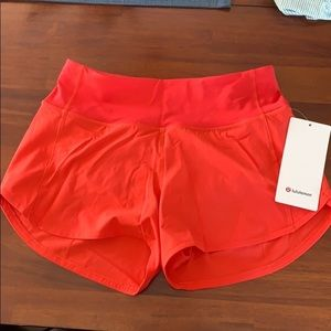 Carnation Red Speed Up shorts